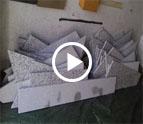 Düsseldorf Bianco Sardo Granit Treppen und Sockelleisten