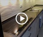 Köln Steel Grey Granit Arbeitsplatten und Wischleisten